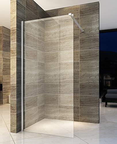 160x200cm Walk In Dusche Begehbare Duschwand Glas Duschabtrennung Duschtrennwand Glastrennwand Glaswand mit NANO-Beschichtung