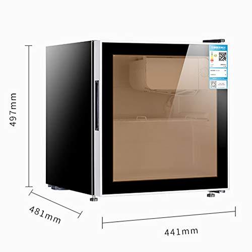 Congelador PequeñO Nevera Mini Frigorificos Bar De Hielo, Oficina En Casa, PequeñO Gabinete De Vino Vertical De Vidrio Para Mantener Fresco Bajo Consumo De EnergíA Y Silencioso(black)