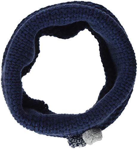 maximo Mädchen 83673-860000, Tube, Pompons Schal, Blau (Navy 48), One Size