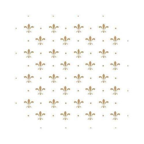 TODO STENCIL Deco Fondo 087 Lys Puntitos, Medidas: Stencil 20 x 20 cm - Diseño 17 x 17 cm