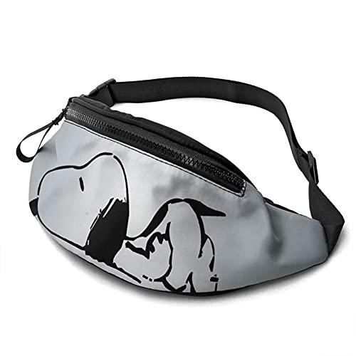 Anime Cartoon Snoopy Casual Cintura Bolsa Moda Hombres Mujeres Niños Adolescentes Bolsa Al Aire Libre Entrenamiento Viajar Casual Correr Senderismo Ciclismo