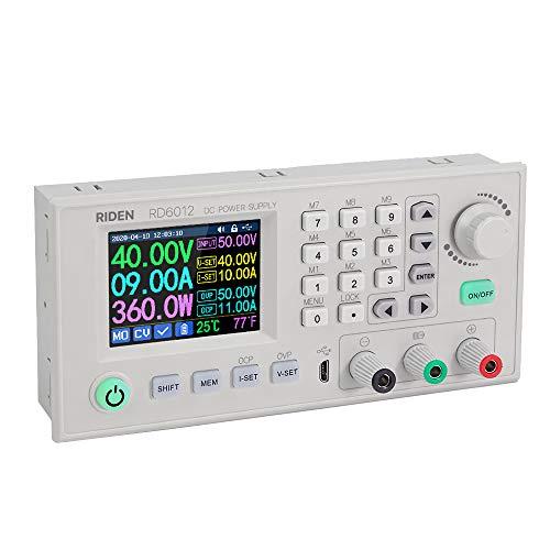 KKmoon 12A 720W CNC DC einstellbare Stromversorgung Digitalsteuerung Netzteil Variables lineares Tischnetzteil 2,4-Zoll-Farb-LCD-Bildschirm Unterstützung win7 / 8/10 - RD6012