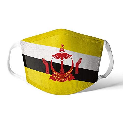 M&schutz Maske Stoffmaske Groß Asien Flagge Brunei Darussalam Wiederverwendbar Waschbar Weiches Baumwollgefühl Polyester Fabrik