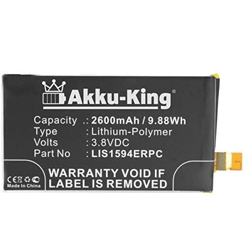 Akku-King Akku kompatibel mit Sony LIS1594ERPC - Li-Polymer 2600mAh - für Xperia XA Ultra, XA Ultra Dual SIM, XA Ultra LTE, Xperia Z5 Compact, Xperia Z5c