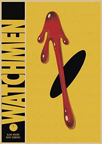 Yiwuyishi Póster de Lona de película clásica de Watchmen Bar Café Sala de Estar Comedor Pinturas Decorativas de Pared 50x70cm P-878