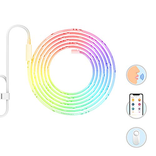 YEELIGHT Smart Wifi LED Light Strip, RGB Wireless Strip Light Kit, Dimmable, 16million Color, Work With Google Assistant and Amazon Alexa, 6.5FT/2M
