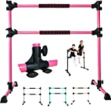 PreGymnastic 4 Ft Adjustable & Portable Double Freestanding Ballet Barre for Dancing Stretching,...