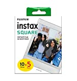instax SQUARE film, White border, 50 shot pack, Amazon Exclusive