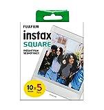 Fujifilm instax Square marco blanco, película instantánea, 5 x 10 fotos