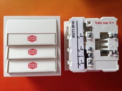 RENZ Tastenmodul mit 3 Klingeltaster grau RENZ Nummer 97-9-85271