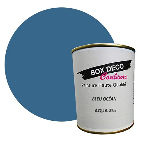Peinture acrylique velours - Aqua bois extérieur - Bois extérieur - 44 couleurs - 0,75 L - 7.5 m²...