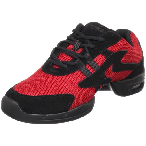 M Sansha Motion Dance Sneaker,Red/Black,11 M Sansha (9 M US Women's/6 M US Men's)