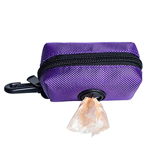 Pet Puppy Cat Pick Up Poop Bag Dispensador Portátil Dog Poop Waste Bag Holder Purple