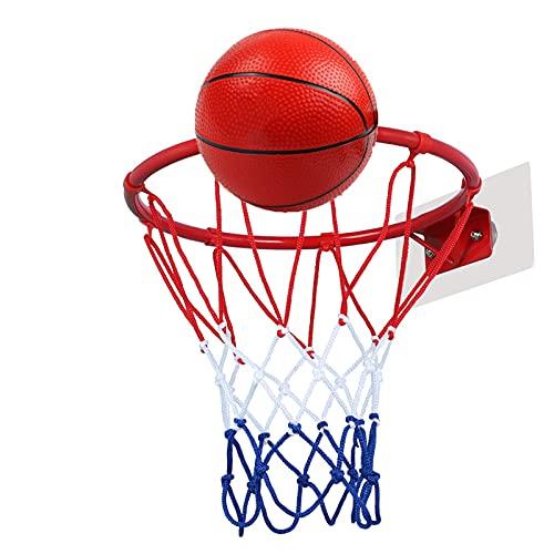 Canasta para Baloncesto Aro De Baloncesto Portátil De Pared, Mini Aro De Baloncesto para Niños En La Puerta Interior, Fácil De Instalar Sin Perforar (Size : 30cm)