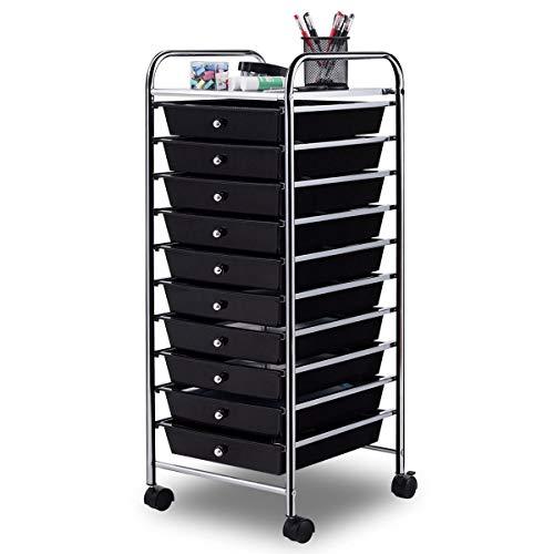 Giantex 10 Drawer Rolling Storage Cart Scrapbook Paper ...