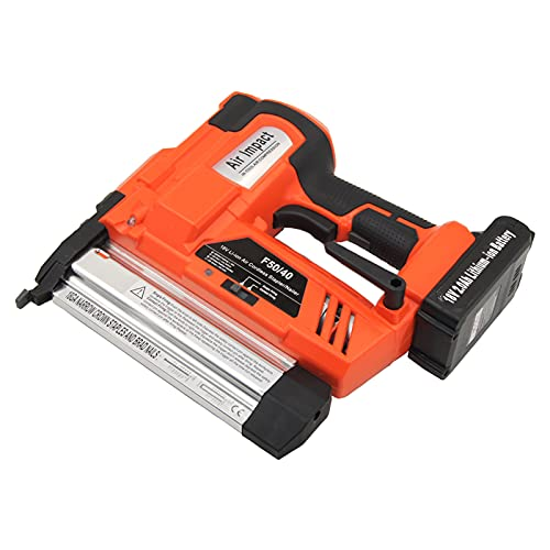 DUSIQ 2021 Upgrade Electric Nail Gun Double-Use Nail Stapler F40 Nails F50 Brad Nail Gun Woodworking Tools for Upholstery, Carpentry and Woodworking Projects
