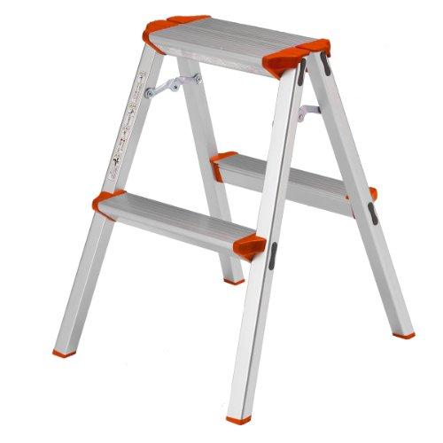 ALINCO(アルインコ) 2段踏み台【高さ56 天板27×16cm】 CCA-60K 脚立 幅広 軽量 アルミ 製品安全協会認証