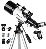 Telescope for Kids & Adults - 70mm Aperture 500mm AZ Mount Fully Multi-Coated Optics Astronomical refracting Portable Telescopes, with Tripod Phone Adapter, Carrying Bag, Remote Control