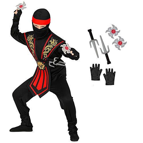 Con questo set di costumi, l'azienda Widmann, il vostro bambino si trasforma in un pericoloso Ninja in un batter d'occhio Riceverete il costume della taglia 116. Questa dimensione è adatta per bambini di circa Adatto dai 4 ai 5 anni Nella confezione ...