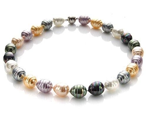 silvity Damen Perlencollier aus Süßwasser-Zuchtperlen 1.5 x 1.5cm 47 cm Farbe. Bunt 509801-20