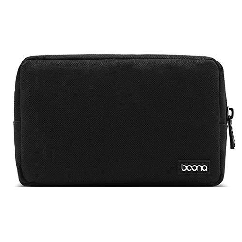 ZHDXW Accessoires numériques Organisateur Sac Tidy Bag Case Travel Storage Bag Portable Electronic Digital Lightweight Pouch Storage Bag with Mesh Divider (Noir)