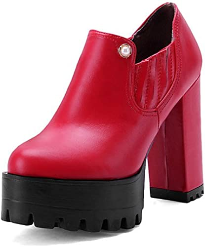GGX Damen Schuhe Frühjahr Herbst Heels Plattform Schuhe Heels Outdoor Casual geschoben Ferse othersschwarz