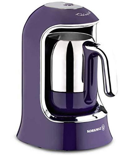 Korkmaz | Kaffeekolik | Elektrischer | Mokkakocher | Espressokocher | 400 Watt | 4 Tassen | Violett |