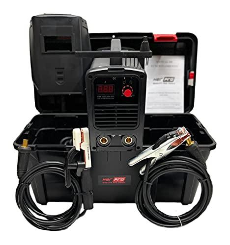 HER PRO QUALITY PRO TOOLS | Soldador Inverter Profesional IGBT 200amp con Maleta | 3 Placas PCB, Tarjeta EMC y Ventilación Incorporada | Máquina de Soldar Ligera, Portatil, Facil de Usar