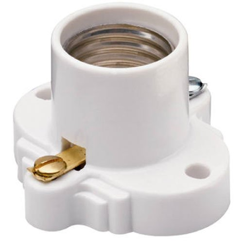Legrand - Pass & Seymour White Medium Base Cleat Lamp Socket (Color may vary)