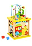 Pidoko Kids Wooden Activity Cube - Fun Forest Theme Toy for...