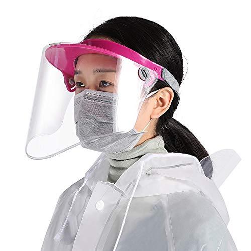 L-H Transparente Schutzgesichtsmaske Anti-Fog Anti-Saliva Vollmasken Easy-to-sterilisieren Doppel Krempe Anti-Shock Hohe Temperaturbeständigkeit Schutz der Augen und Gesicht kann sowohl von Männern un