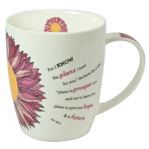 Flower Power Inspirational Mug - Jeremiah 29:11
