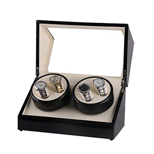 MZPWJD Cajas giratorias Caja Decorativa Cuatro Automático Reloj Mecánico Devanadera, Pintura para Piano, Rotador De Motor Ultra Silencioso (Color : Black, Size : 340x180x2050mm)