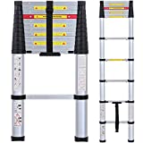 Lionladder EN131 8 FT Telescoping Ladder Aluminum Telescopic Extension Tall Multi Purpose