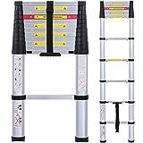 Lionladder EN131 8 FT Telescoping Ladder Aluminum Telescopic Extension Tall Multi Purpose