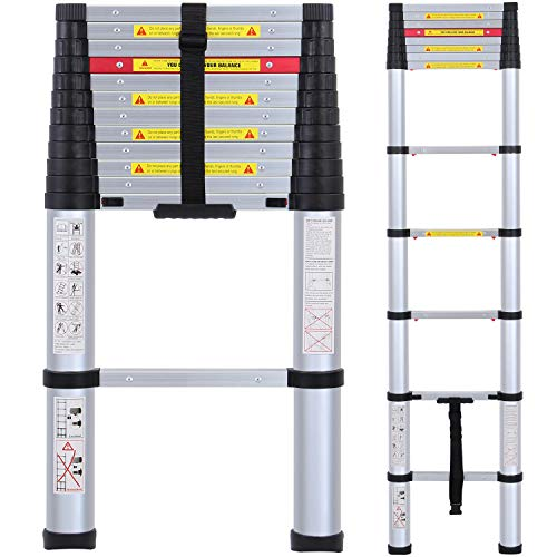 4. WolfWise EN131 12.5ft Telescoping Ladder