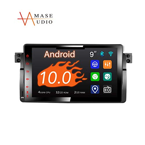 """Amaseaudio Car Stereo, 1 Din for BMW E46 M3 318 320 325 330 335, 9"""" Touchscreen, DSP+, Support Android auto/GPS navigation/HD1080P/Fast Boot/Backup Camera/OBDII"""