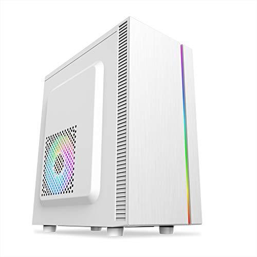 LIQIANG Mainframe De Computadora ATX, Mainframe De Juegos con Efecto De Luz RGB, USB3.0, Calor De Ventilador De Conducto De Aire Tridimensional