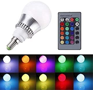E14 Led Bulbs - Rgb E14 5w Led Bulb Color-Changing Globe Light Lamp +
