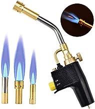 InLoveArts MAPP propaan fakkel met 3 spuitmonden/tips, multifunctionele trekker start propaan fakkel, gas fakkel voor sold...
