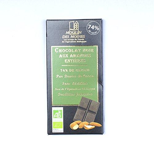 Moulin des moines - Chocolat noir aux amandes 100G