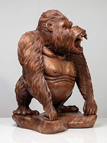 Holzfigur Weise AFFE - Holzskulptur Gorilla GAPPY