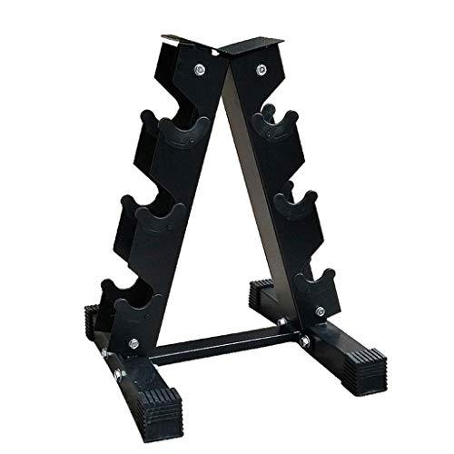 RWX Mancuernas Duradera Bastidor de Acero de Almacenamiento Pesa for Pesos de la Aptitud Bar A-Frame con Mancuernas de Peso en Rack Accesorios for Ejercicios Equipo de Ejercicio físico
