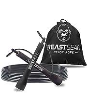 Beast Gear Springtouw - Speed Rope voor fitness, uithoudingsvermogen en afvallen. Ideaal voor boksen, MMA, Crossfit, HIIT, intervaltraining & Double Unders