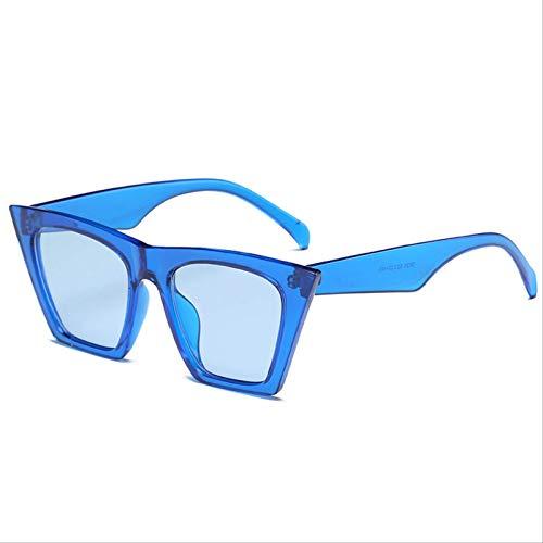 ODNJEMSD Grandes Gafas De Sol De Ojo De Gato Personalidad Femenina Transparente Colorido Moda De Cuadro Completo A Juego Gafas De Sol