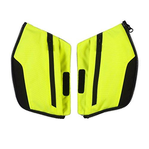 Clover Pockets Kit - Wechselbare Taschen für Crossover-3 Motorradjacke, Schwarz/Neongelb, S