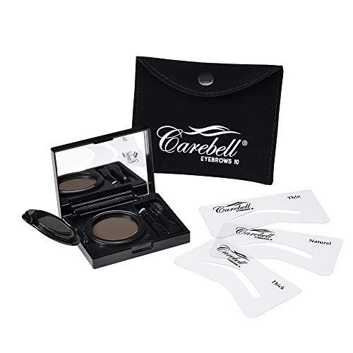Maquillaje para Cejas Carebell Eyebrows 10 (C-04 IRID BROWN) · Castaño oscuro, cabello negro y rojizos oscuros.