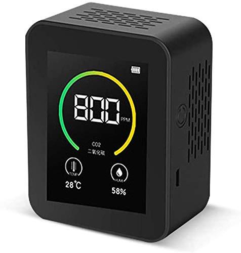QINXI CO2-Meter, Kohlendioxid-Detektor, Gas-Konzentrationsgehalt, Farbbildschirm, TFT, intelligenter Luftqualitätsanalysegerät mit Temperatur-/Luftfeuchtigkeitsanzeige, 400-5000ppm Messbereich