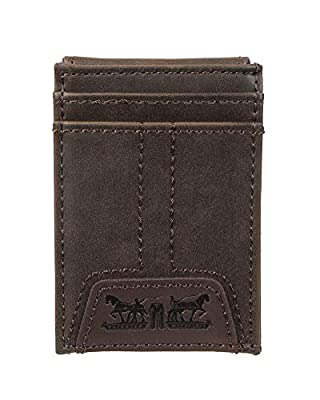 Levi's Men's RFID Blocking Wide Magnetic Slim Money Clip, Brown Jack, One Size