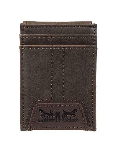 Levi's Men's Slim Front Pocket Wallet, Brown Jack, One Size